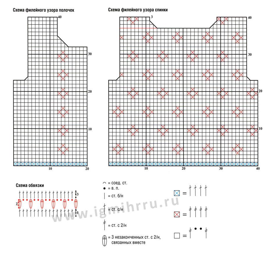 Кардиган филейным вязанием схемы 98