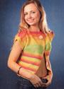 Разноцветная летняя безрукавка. Крючок