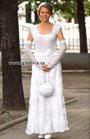 Свадебный наряд: платье, перчатки, сумочка и ободок. Крючок и Спицы
