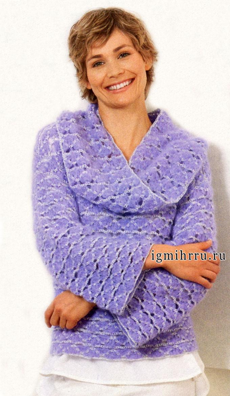 женский шарф крючком схема