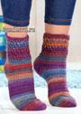 Разноцветные меланжевые носки. Крючок