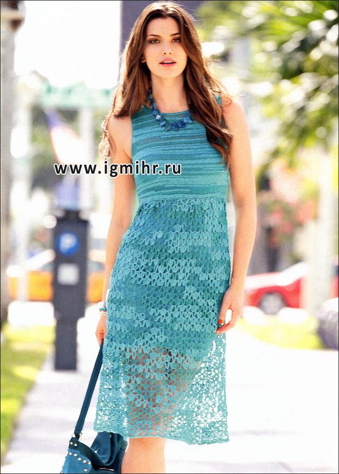 вязание крючком платье ажурное