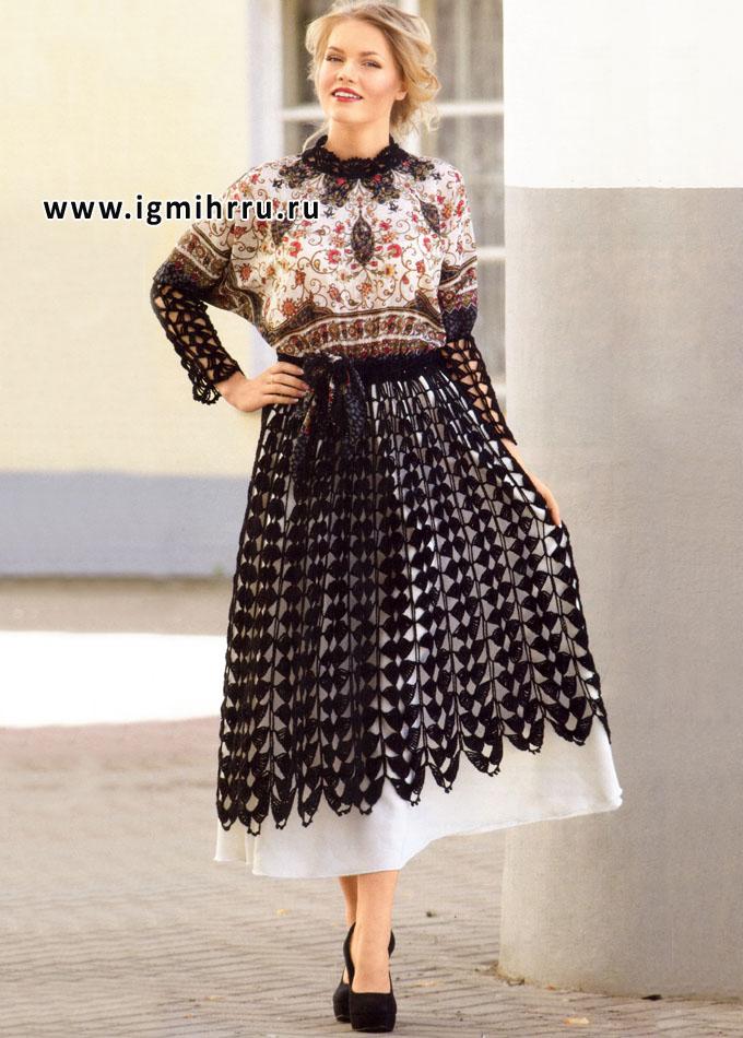 Платье из комбинированных тканей своими руками6