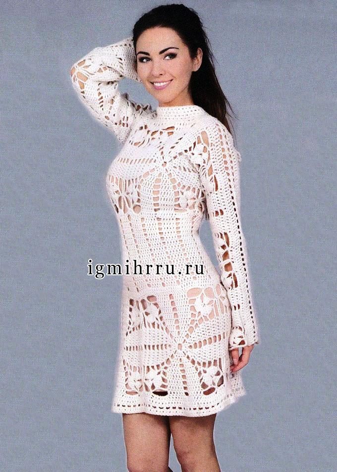 Элегантное белое платье с