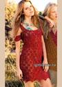 Летнее бордовое платье с приспущенными мини-рукавами. Крючок
