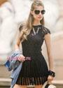 Маленькое черное платье с ажурными узорами. Крючок