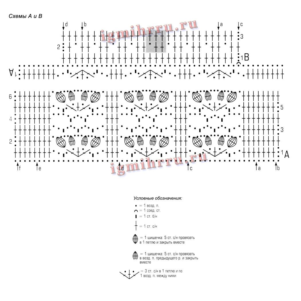 h схемы вязания карзинок крючком