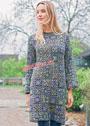 Платье из разноцветных бабушкиных квадратов. Крючок