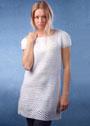 Белое платье с ажурной каймой. Крючок
