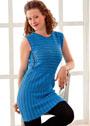 Синее хлопковое платье-туника с боковыми вставками. Крючок