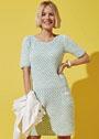 Приталенное платье с сетчатым клетчатым узором. Крючок