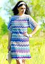 Летнее платье с зигзагами в стиле Миссони. Крючок