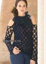 Для праздничных мероприятий. Кашемировый пуловер с открытыми плечами и широким воротником. Крючок