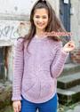 Оригинальный розовый пуловер с круговыми мотивами. Крючок