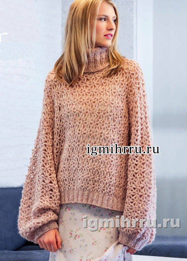 Объемный свитер крупной вязки схема фото 891