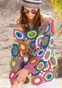 Летний пуловер из цветочных мотивов. Крючок