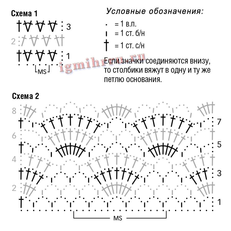 Вязание сверху вниз модели с описанием - Вяжи. ру