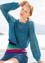 Короткий сетчатый пуловер. Крючок