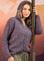 Пуловер с декором из кос и капюшоном. Крючок