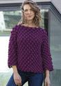 Пуловер с узором из крупных шишечек. Крючок