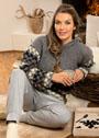 Повседневный пуловер с многоцветным клетчатым узором. Крючок