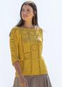 Желтый пуловер с бабушкиными квадратами. Крючок