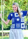 Летний пуловер из бабушкиных квадратов. Крючок