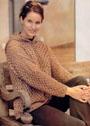 Хлопковый ракушковый пуловер с капюшоном. Крючок