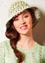 Летняя шляпа из хлопково-льняной пряжи. Крючок