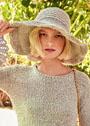 Летняя шляпа с широкими полями. Крючок