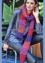 Теплый шарф с ажурными полосами. Крючок