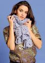Сиреневый ажурный шарф. Крючок