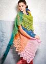Асимметричный разноцветный платок. Крючок