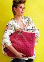 Объемная сумка цикламенового цвета. Крючок