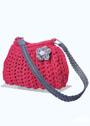 Свяжем быстро стильную сумку. Сумка цвета фуксии. Крючок