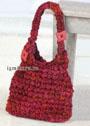 Красная сумка из толстой пряжи. Крючок