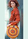 Яркая сумка с цветными кругами. Крючок