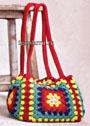 Яркая разноцветная сумка. Крючок