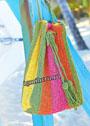 Разноцветная сумка-мешок. Крючок