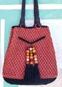 Сумка-мешок с плетеными ручками. Крючок