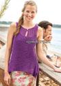 Летний сетчатый топ фиолетового цвета. Крючок