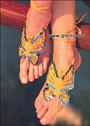 Украшение для ног Бабочки. Крючок