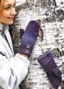 Фиолетовые варежки с пуговицами. Крючок