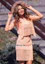 Летняя юбка персикового цвета. Крючок