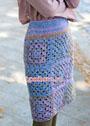 Шерстяная юбка из квадратных мотивов. Крючок