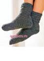 Серые мужские носки. Крючок