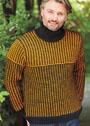 Мужской свитер со структурным узором. Спицы