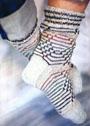 Мужские носки с цветными полосками. Спицы