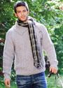 Мужской пуловер с ирландскими узорами. Спицы