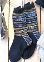 Мужские шерстяные носки с орнаментом. Спицы